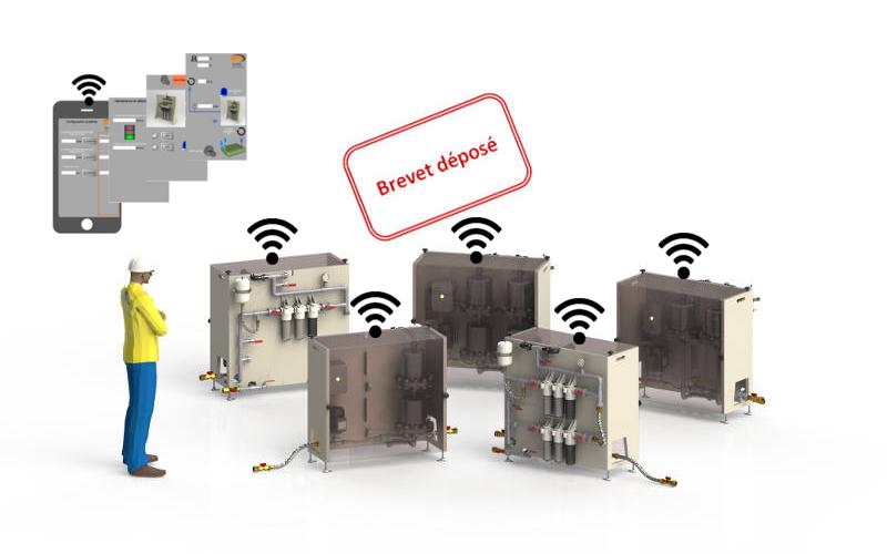 Centrales de traitement d'eau (pluviale, eaux de surface), tout automatiques, compactes, évolutives et modulaires. Débits de 1 à 2,5 m3/h.